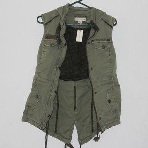 Marrakech Anthro. Anorak Hoodie Utility Vest